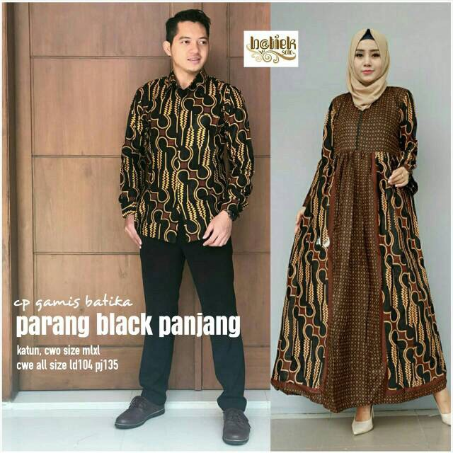 Model Gamis Kombinasi Couple 18