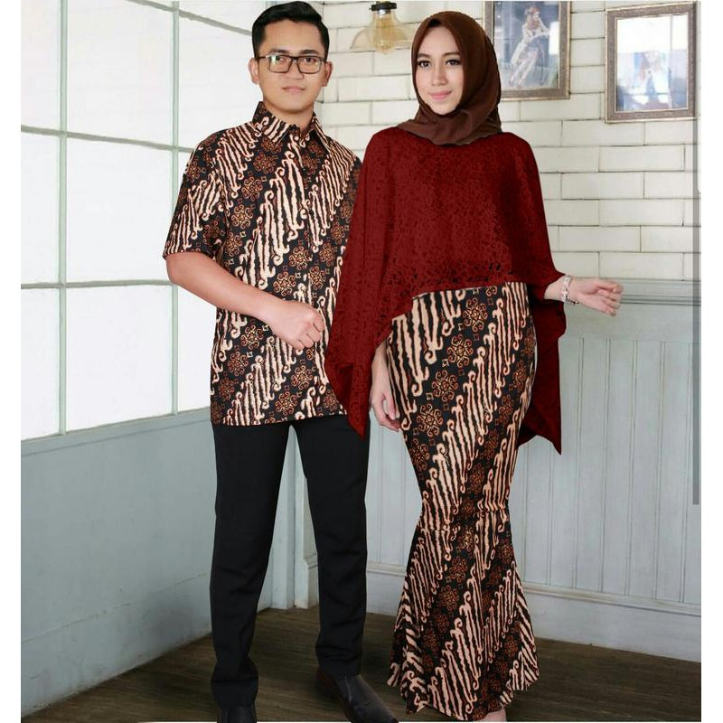 Model Baju Batik Gaun Couple 10
