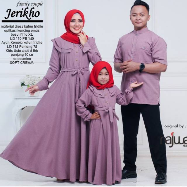 Bianca Family Couple Gamis Couple Ibuayahanak Sarimbit Ori Najwa Baju Couple Keluarga Shopee Indonesia