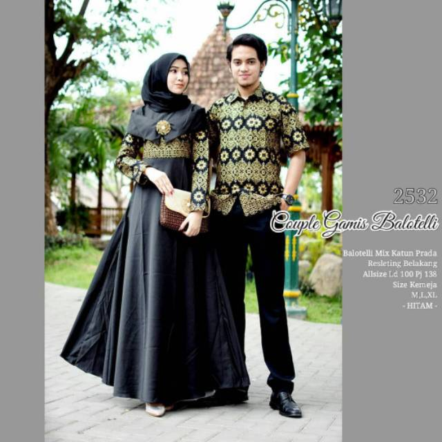 Model Gamis Kombinasi Couple 13