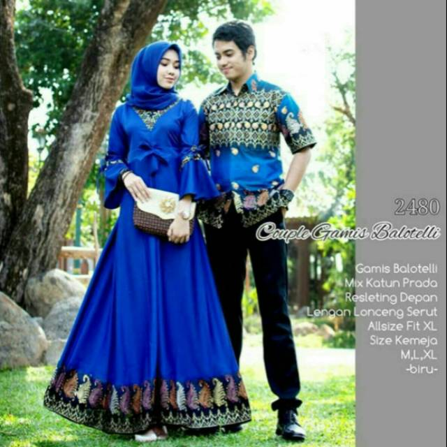 Model Baju Batik Gamis Couple 11