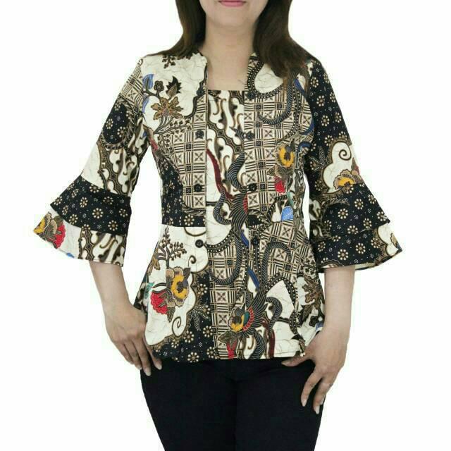Atasan Baju Hamil Kerja Batik