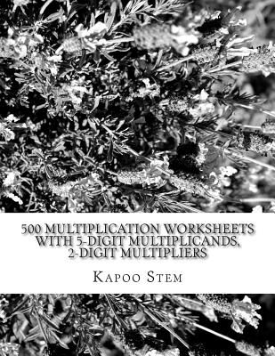 500 Multiplication Worksheets with 5 Digit Multiplicands  2 Digit     This item is currently out of stock