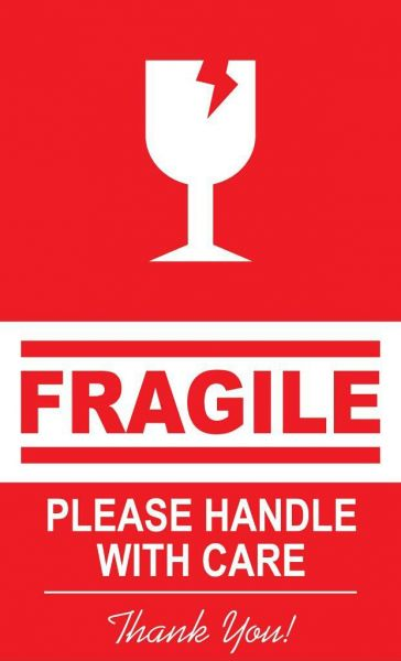 Fragile Handle With Care Safety Stickers 1000 Pcs in 1box ...