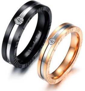 cartier ring   Mysmar Swarovski Elements   UAE   Souq com Stainless Steel Real Love Confession Couple Rings Set