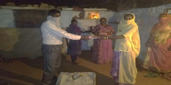 Distributed Material in Bhil Basti, Jodhpur