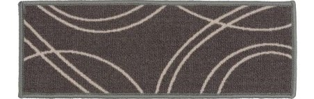 World Rug Gallery Gray Contemporary Stripe Nonslip Stair Tread Set   Non Slip Stair Rugs   Bullnose Carpet   Carpet Rug   Mat   Stair Runners   Tread Covers