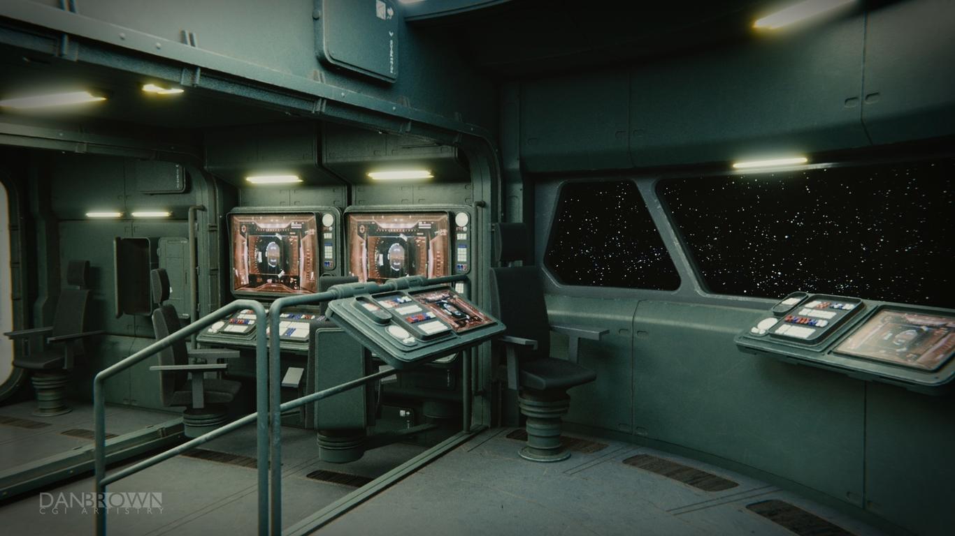 Small Spaceship Command Center By Danbrowncgi Sci Fi