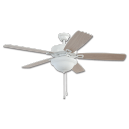 Chadwell Supply  CEILING FANS Picture of 42  TWIST LOCK EASY INSTALL CEILING FAN   WHITE WITH LIGHT KIT