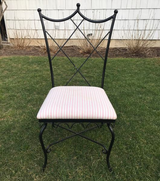Vintage Outdoor Wrought Iron Chairs   Set of 6   Chairish Vintage Outdoor Wrought Iron Chairs   Set of 6   Image 5 of 5