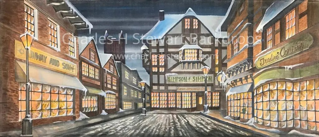 Dickens Street Backdrop Backdrops By Charles H Stewart