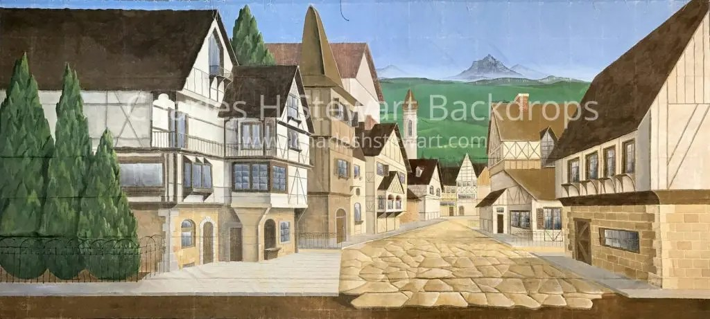 European Village Backdrop Backdrops By Charles H Stewart
