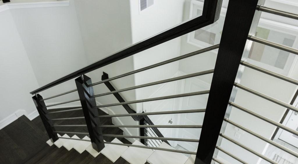 Horizontal Bars Cheap Stair Parts | Tubular Stair Railings Design | Simple | Grill Work | Residential Industrial Stair | Welded | Stair Case Railing