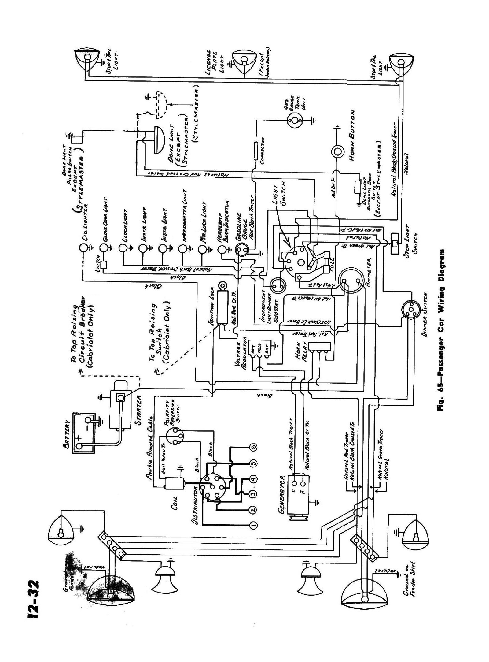 Plymouth Cranbrook Battery 1953 Wiring Diagram