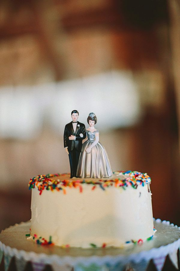 Retro Wedding Cake Topper