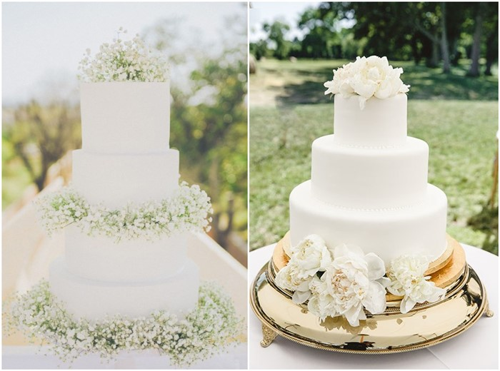 18 Simple White Wedding Cakes Ideas for Your 2018 Wedding   ChicWedd Simple White Wedding Cakes Ideas