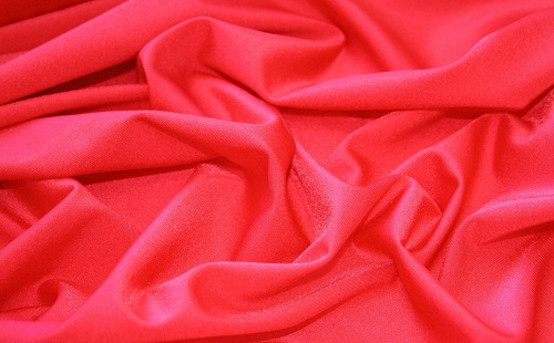 Red Chiffon Fabric.