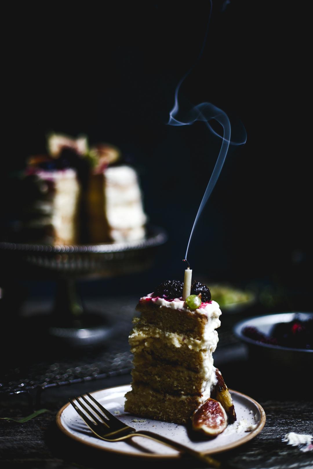Elderflower Honey Cake