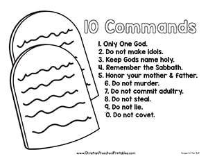 ten commandments coloring page # 10