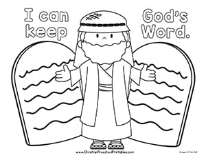 ten commandments coloring page # 3