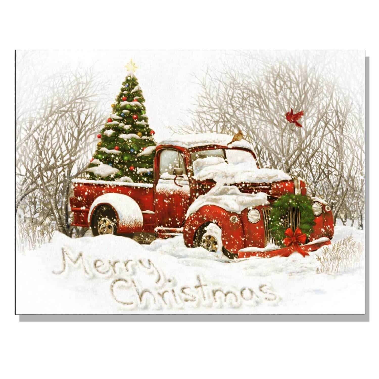 Country Christmas Bridge Cards