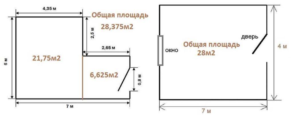Schéma místnosti s měřeními