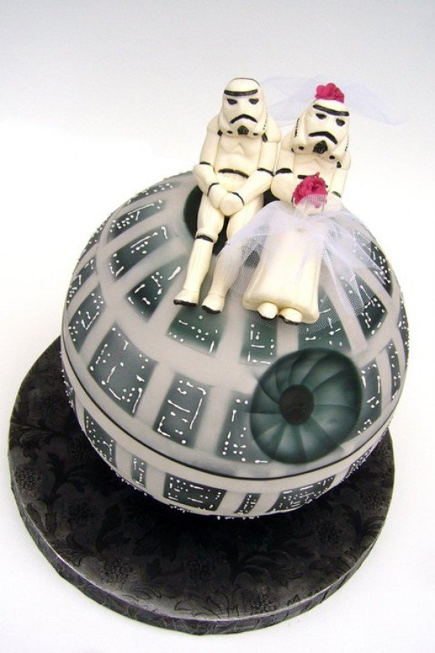 Star Wars Wedding Cake Toppers   ChurchMag star wars wedding cake toppers stromtrooper death star