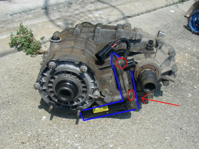 hummer h2 transfer case encoder motor