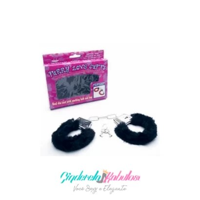 ALGEMA DE METAL FURRY LOVE PRETO