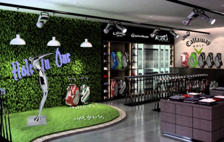 top golf store interior