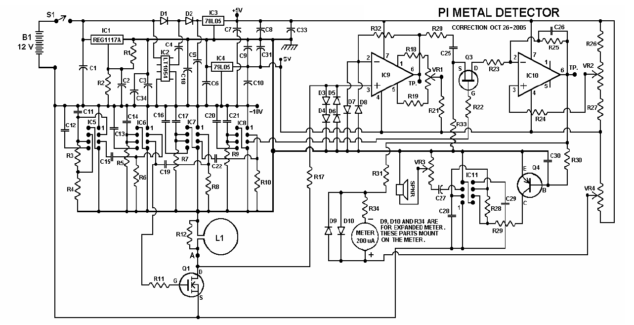 Metal Detector Schematic Circuit Diagram Page 3 Wiring Pi