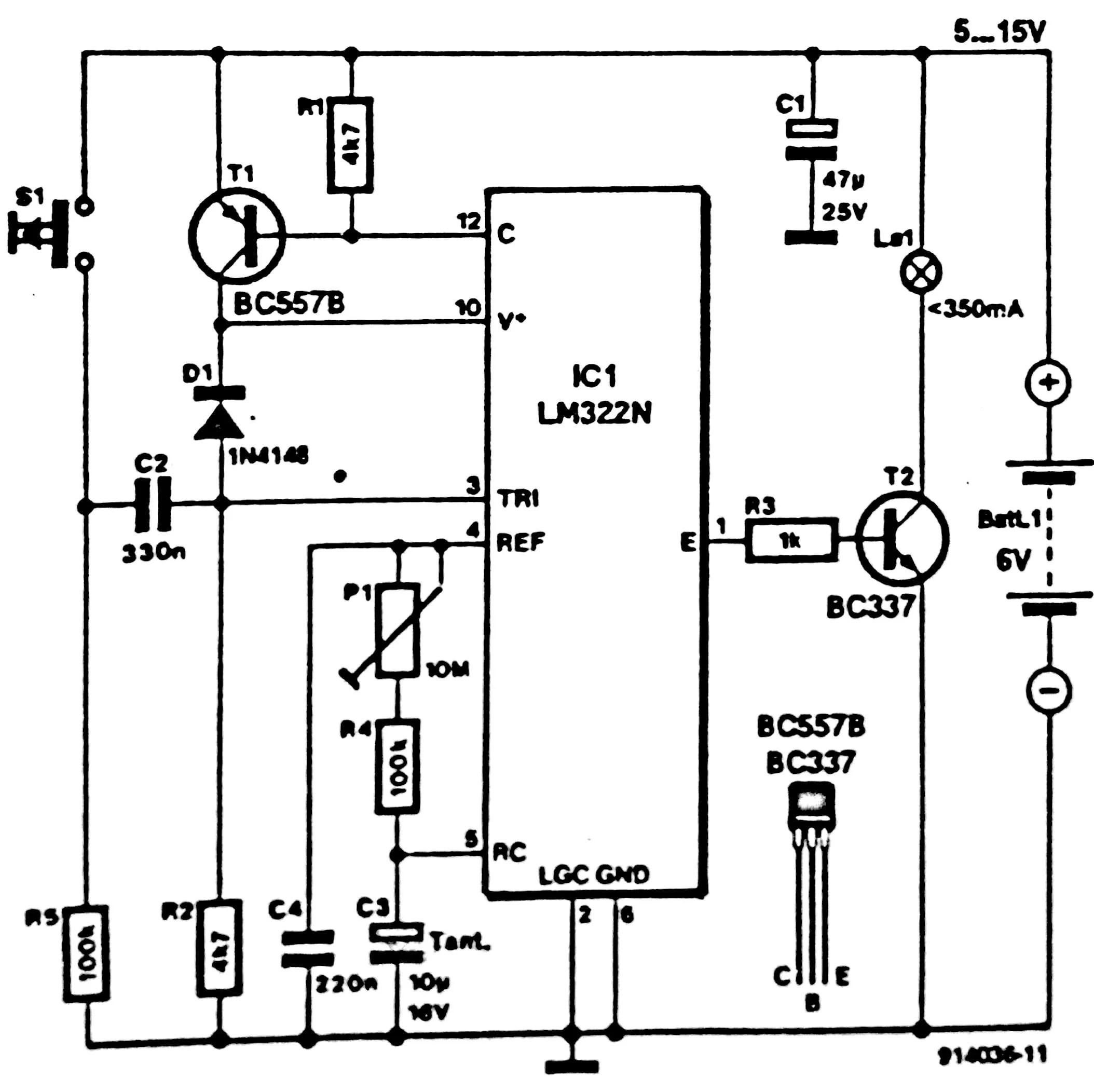 Auto power off for audio equipment circuit diagram