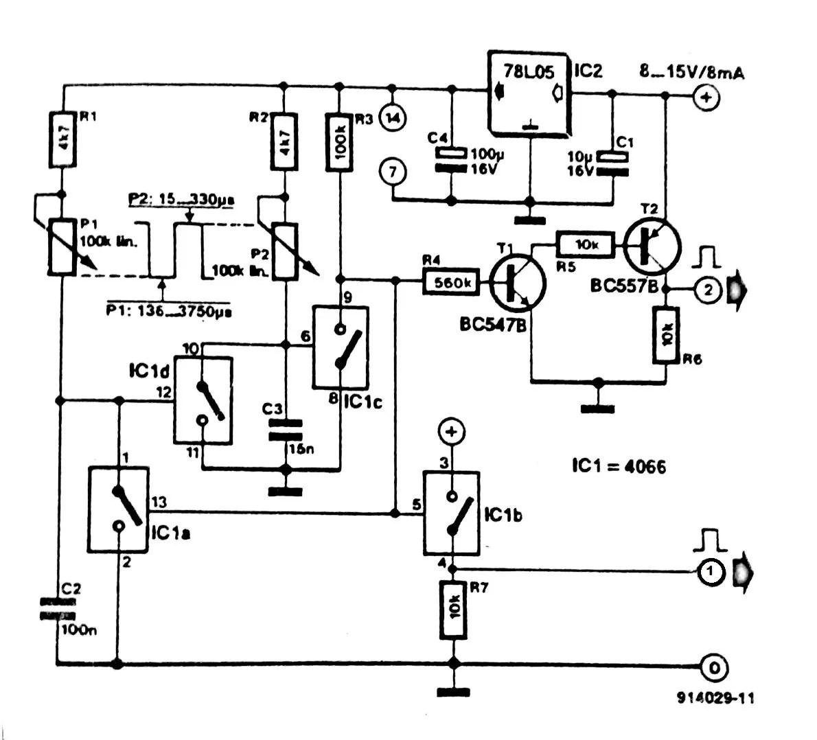Pulse generator one 4066 circuit diagram wiring schematic diagram at ww35 freeautoresponder co