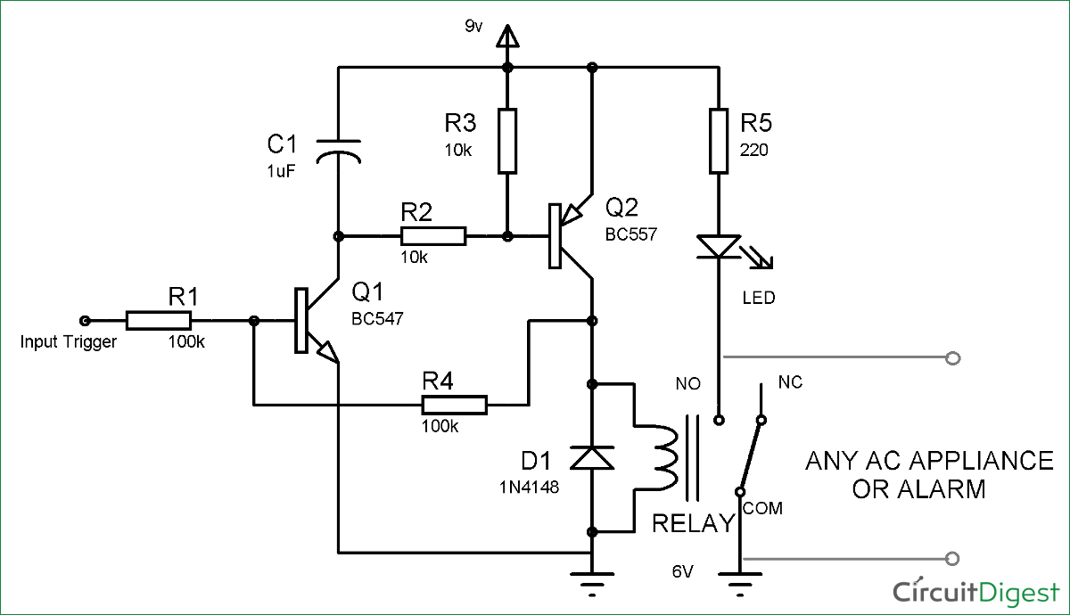 Basic Wiring Diagram For Doorbell Circuit Of Door Bell