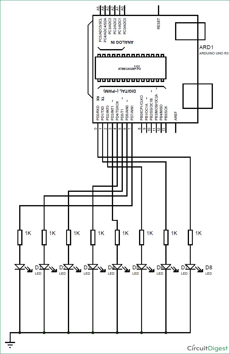 Arduino propeller led display circuit diagram
