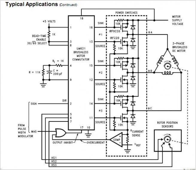 Brushless Schematic Phase Control 3 556 Motor