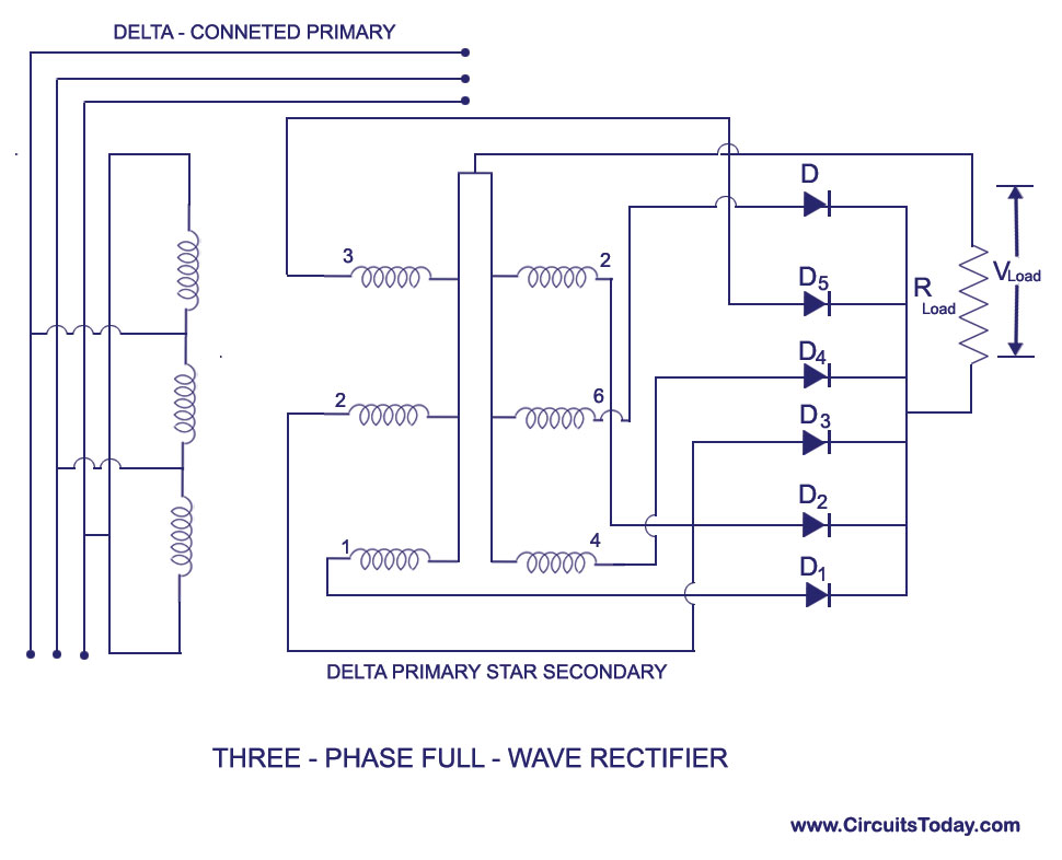 Three Phase Full Wave Rectifier