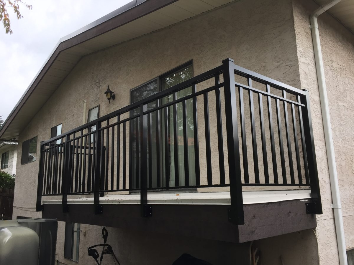 Cost Of Deck Railings In Vancouver Wood Aluminum Glass And   Aluminum Railings For Front Steps   Decorative   Balcony   Patio   Deck Railing   Glass Fascia Mount Metal Post