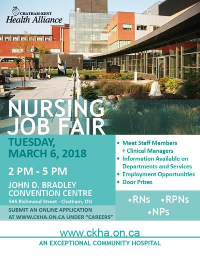 Chatham-Kent Health Alliance Nursing Job Fair - CK Today