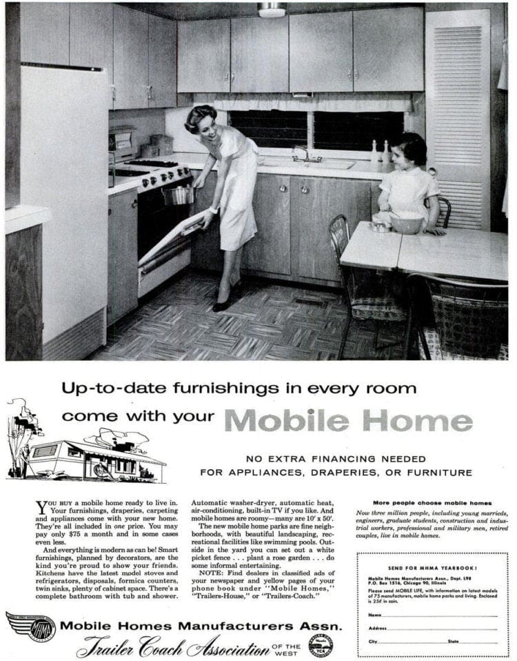 Mobile Homes The Hot Housing Trend Of The 50s And 60s