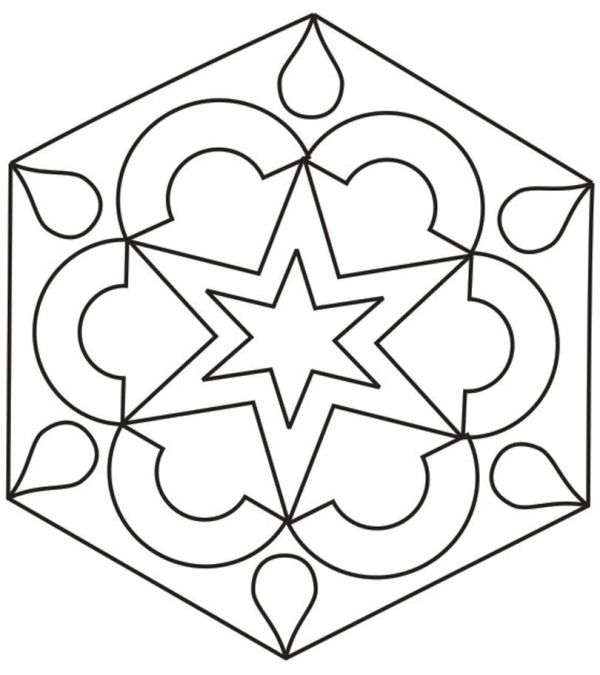 rangoli coloring pages # 15