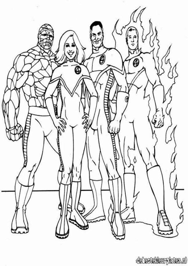fantastic four coloring pages # 7