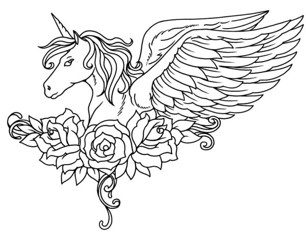 free coloring kids unicorn # 36
