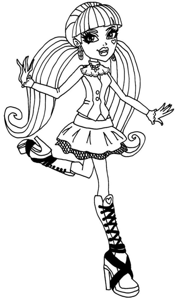 draculaura coloring pages # 9