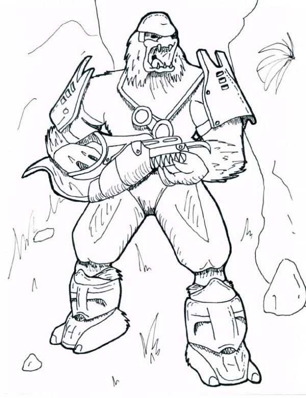 coloring pages halo # 55