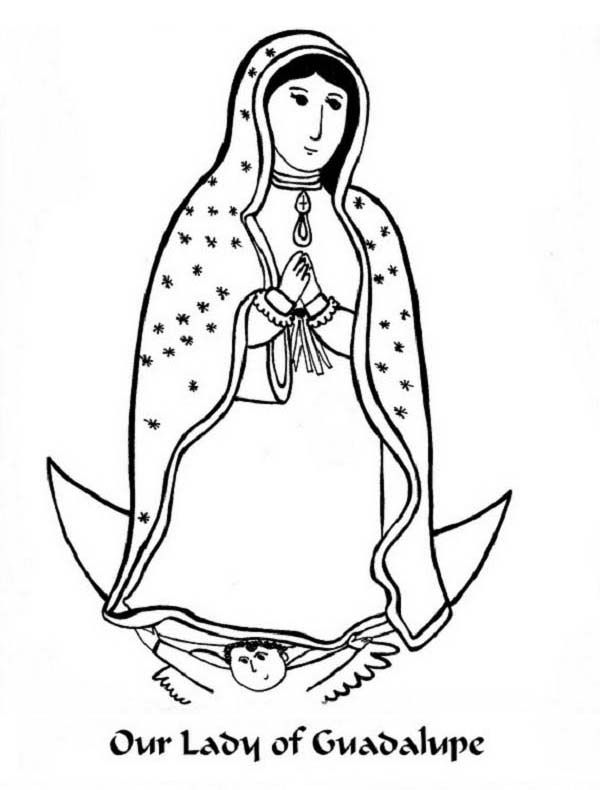 our lady of guadalupe coloring page # 81