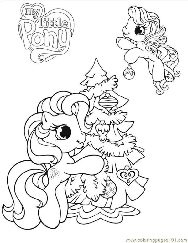 my little pony christmas coloring pages # 10