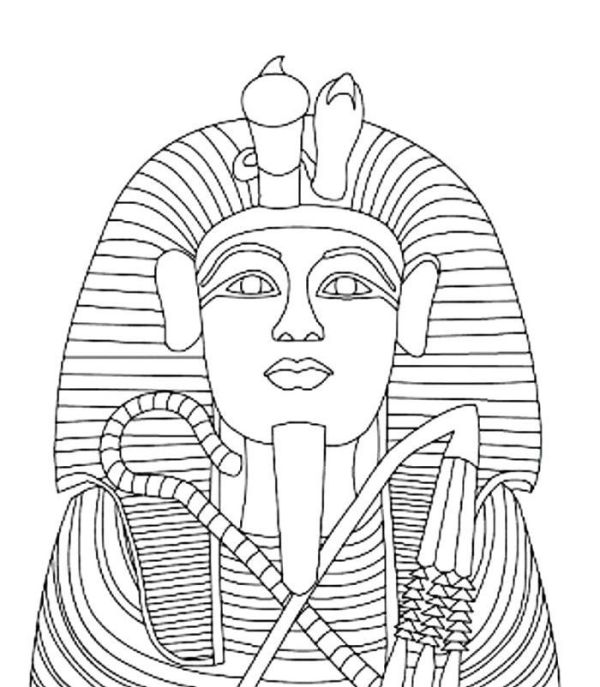 king tut coloring page # 12