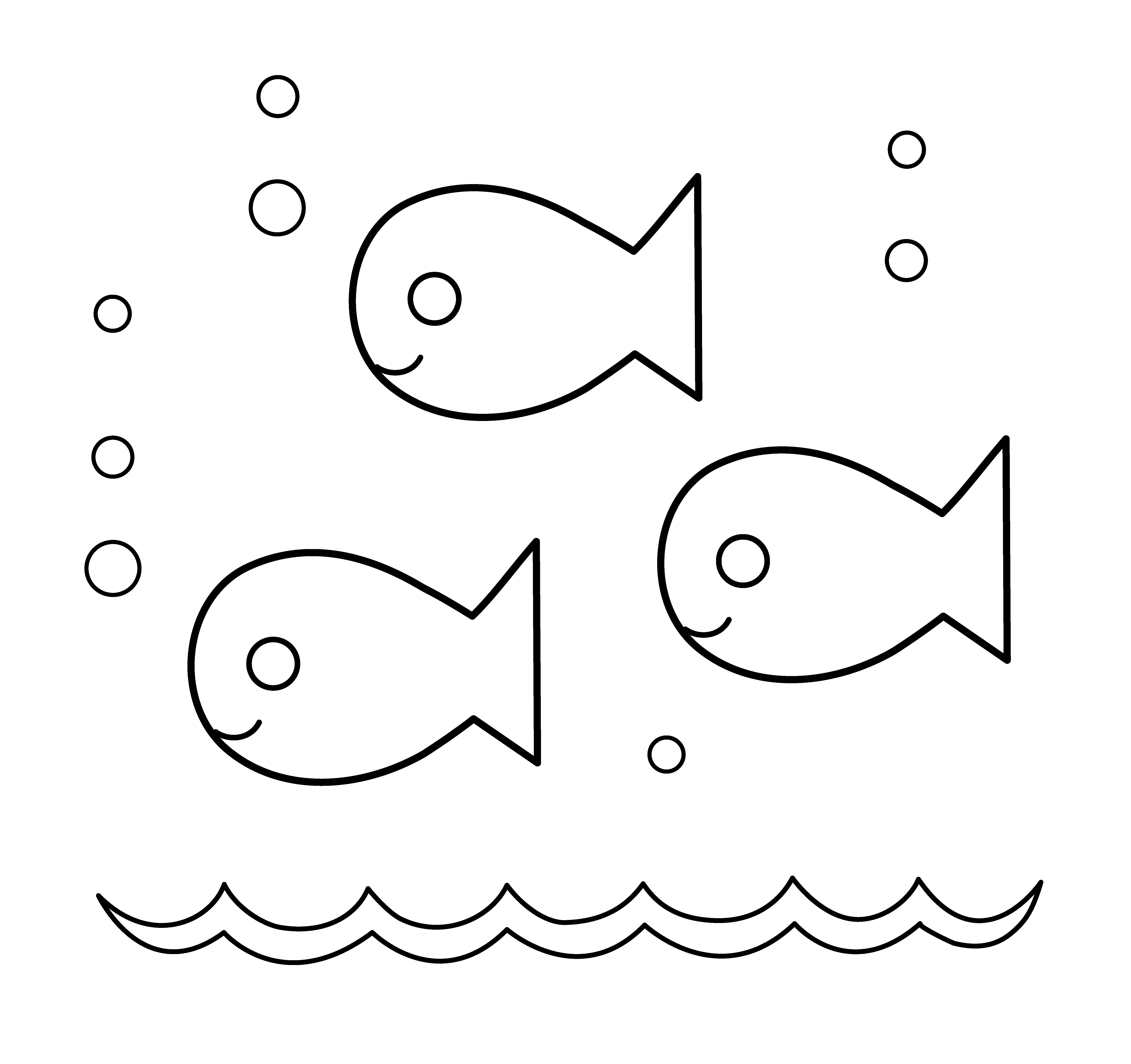 Little Fish Coloring Pages Download And Print For Free Clip Art