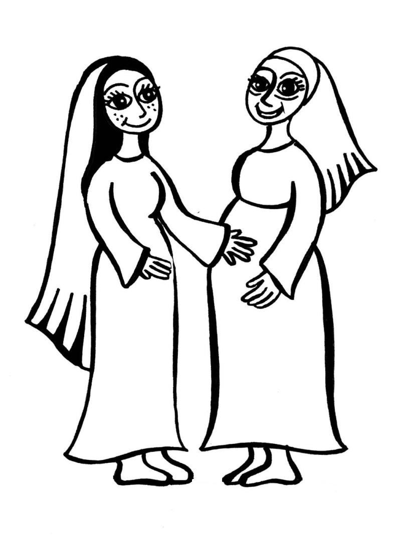 Annunciation And Visitation Coloring Page Clip Art Library